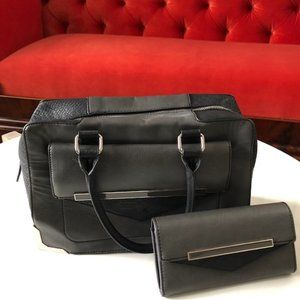 ALDO PURSE AND WALLET BLACK AND GRAY